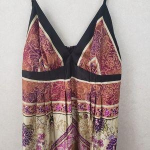 ECI  Floral Spaghetti Strap Maxi Dress